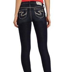 🆕 NWT Silver Jeans dark wash Suki super skinny